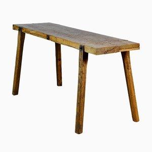 Vintage Oak Butcher's Table, 1930s