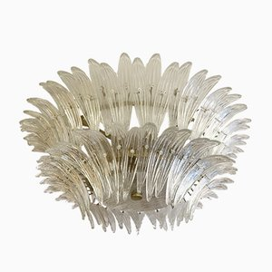 Murano Palmette Ceiling Lamp from Barovier & Toso, Italy, 1970s