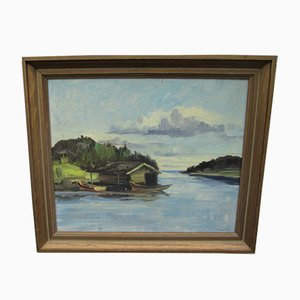 Oil Painting, Sweden, 1970s