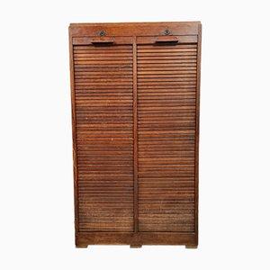 School Shutter Cabinet in Solid Oak