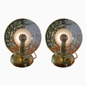 Space Age Table Lamps, 1950s, Set of 2