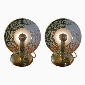 Space Age Tischlampen, 1950er, 2er Set