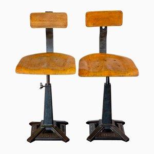 Fabrikstühle von Singer, 1920er, 2er Set