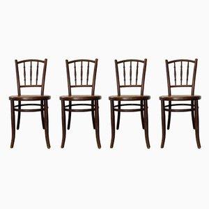 Antike Bullwood Stühle von Fischel, 4er Set