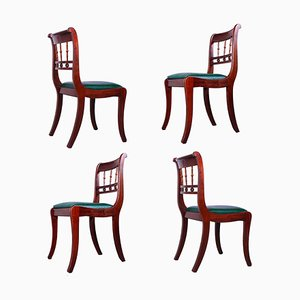 Antique Style Dining Chairs, 1970s, Set of 4