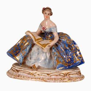 Italienische Lady Figurine aus Porzellan und Keramik von Guido Cacciapuoti