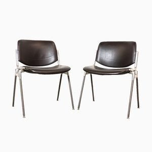 DSC 106 Desk Chair by Giancarlo Piretti for Castelli / Anonima Castelli, 1960s, Italy, Set of 2