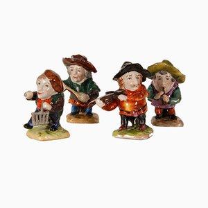 Figurines Baroques en Porcelaine, 18ème Siècle, Set de 4