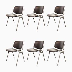 DSC 106 Desk Chair by Giancarlo Piretti for Castelli / Anonima Castelli, 1960s, Italy, Set of 6