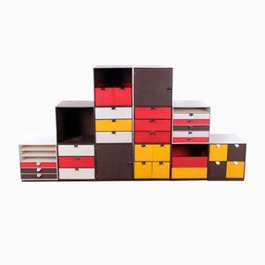 Modulare Vintage Vintage Palaset Palanox Aufbewahrungsboxen von Treston Oy, Finnland, 1972, 12er Set