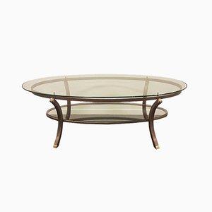 Vintage Oval Coffee Table by Pierre Vandel, France, 1970s
