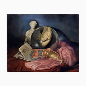 Maximilian Ciccone, La lente e l'arte, óleo sobre lienzo