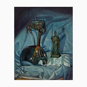 Maximilian Ciccone, La lente, il braciere in bronzo e Giunone, Öl auf Leinwand