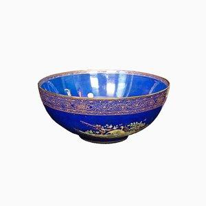 Antike dekorative englische Obstschale aus Keramik, 1920er