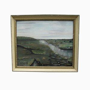 Oil Landscape, Sweden, 1940s