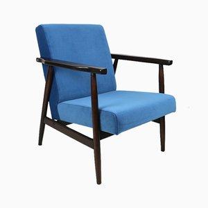 Blauer Vintage Vintage Sessel, 1970er