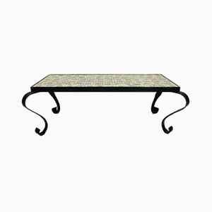 Mosaic Table with Wrought Iron Frame, 1960s