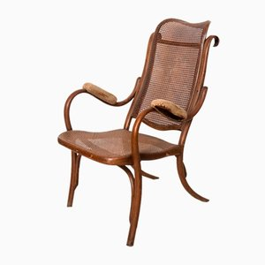 Straw and Curved Wood Armchair, Vienna