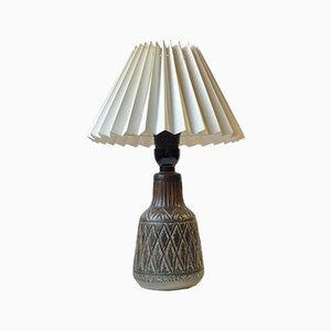 Lampe de Bureau Scandinave en Céramique de Johgus Bornholm, 1970s