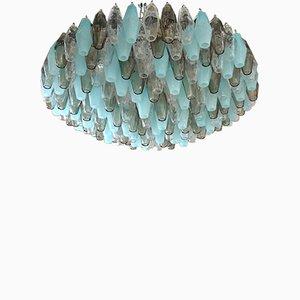 Murano Round Polychrome Polyhedra Chandelier from Venini, 1960s