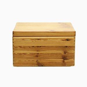 Scandinavian Pine Storage Box, 1970s