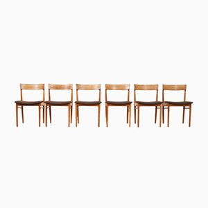 Model 39 Rosewood Painted Chairs Henry Rosengren Hansen for Brande Mobel Industry, 1960s, Set of 6