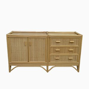 Low Rattan Cabinet, 1970s