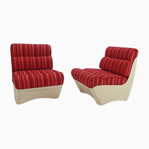 Space Age Lounge Chairs, 1960s, Set of 2