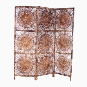 Mid-Century Raumteiler aus Bambus, 1960er