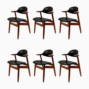 Cowhorn Chair by Tijsseling for Propos Hulmefa, Set of 6
