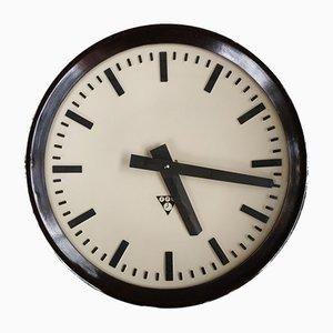 Industrial Bakelite Wall Clock from Pragotron, Czechoslovakia, 1960s