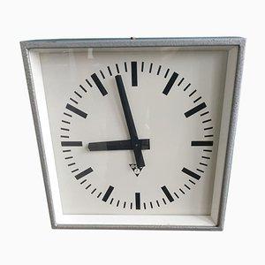 Type C 301 Wall Metal Clock from Pragotron, Czechoslovakia, 1970s