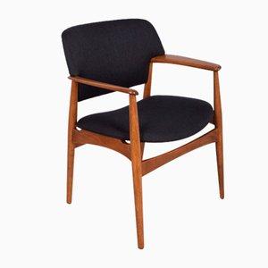 Mid-Century Armlehnstuhl von AB Madsen & E. Larsen für Fritz Hansen, 1960er