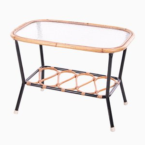 Vintage Bamboo Coffee Table from Rohé Noordwolde, 1950s