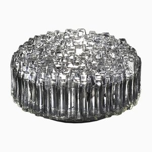 Vintage Wall or Ceiling Lamp in Crystal Structural Glass from Hoffmeister, 1970s