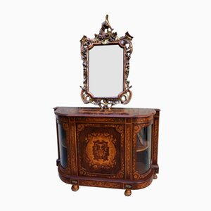 Boulle with Baroque Mirror, 1900s, Set of 2
