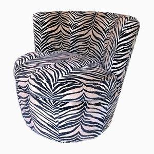Große Vintage Drehsessel mit Zebramuster von Younger Furniture, USA, 1980er, 2er Set
