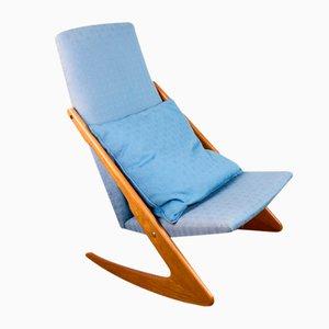 Large Danish Boomerang Model Rocking Chair by Mogens Kold, 1960s