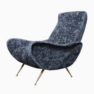 Italian Black Lounge Chair, 1950s