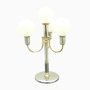 Regency Chrom & Messing Lampe, 1970er