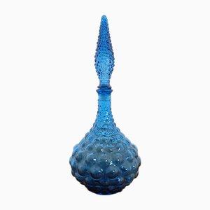 Italienischer Genie Dekanter aus Glas mit Stopper von Empoli, 1960er