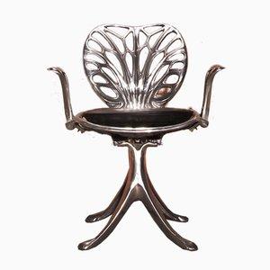 Esszimmerstühle aus gegossenem Aluminium von Quasar Khanh, 4er Set