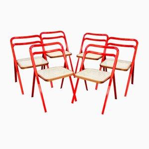Chaises Pliantes Mid-Century par Giorgio Cattelan pour Cidue, Italie, 1970s, Set de 6