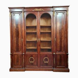 Empire Bookcase with Mahogany Caryatids, 1880s