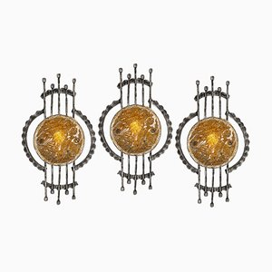 Mid-Century Murano Wall Sconces by Tom Ahlstrom & Hans Ehrlich