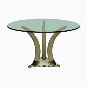 Mid-Century Faux Tusk Centre Table