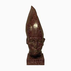 Faux Porphyry Egyptian Head