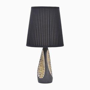 Black Danish Mid-Century Ceramic Table Lamp by Holm Sorensen for Søholm