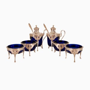 Französisches 1st Empire Napoleonic Tischset aus Sterling Silber, 8er Set