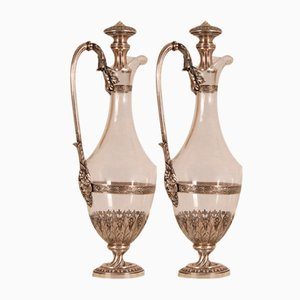 18th Century Sterling Silver Decanters, Set of 2